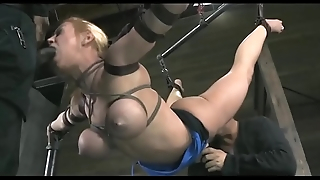 Cute blonde tied approximately and humiliated!!! -Punishland.com