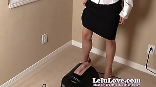 Secretary CUMS home for an orgasmic Sybian ride in operation raiment