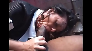 Fat ass Milf neonate De'_ Bella pussy pounded by black foursome thither alley