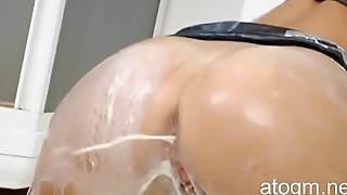 Hot Lioness Farts Out Some Whipped Cream! (Anal Milk, atogm.net)