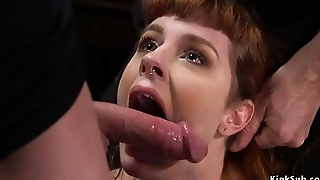 Skinny redhead in corporal chastisement