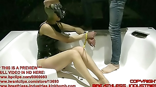 TheOnlyJ Extreme Breathplay in Latex Mask