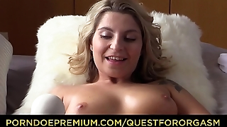 QUEST FOR ORGASM - Czech babe Kattie Hill fingers and masturbates with vibrator