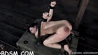 Masked angel gets her wobblers bounded hard with toy drilling