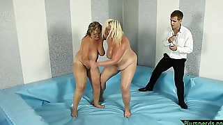 Curvy MILF fucked by wrestling referee
