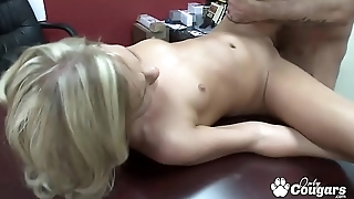 Alli Kay Banged On The Casting Chaise longue