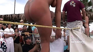 Spring Break Bikini Contest Goes Rumbustious