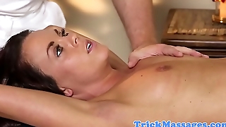 Gorgeous amateur spoon fucked by masseur