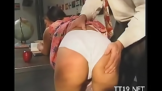 Cute chick seduces teacher and bonks him passionately