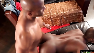 Threatening hunk doggystyle fucking his lover