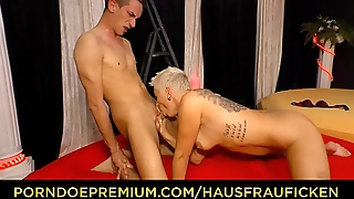 HAUSFRAU FICKEN - Alternative blonde German MILF pounded hard