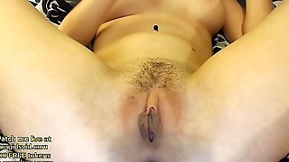 Big boobs model fingers her pussy - live at link