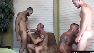 Gay Tissue Orgy Anal Fingering
