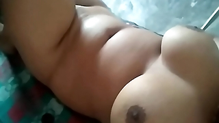 My big boobs press and pussy fingering
